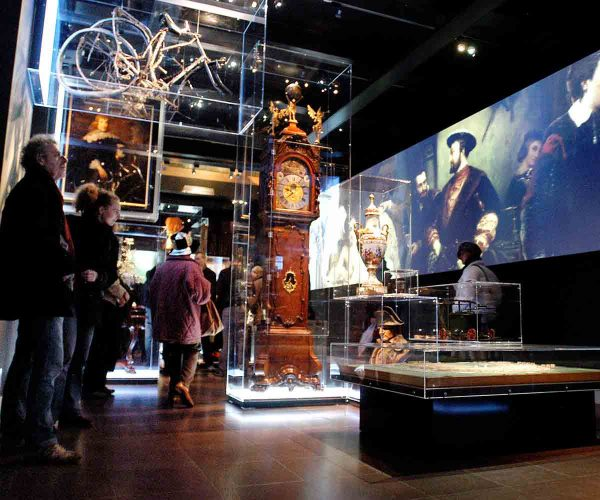 Kappen in museum