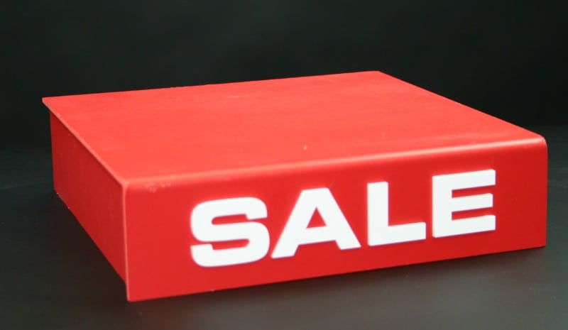 SALE sign display