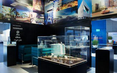 kappen van PMMA voor tentoonstelling op beurs
