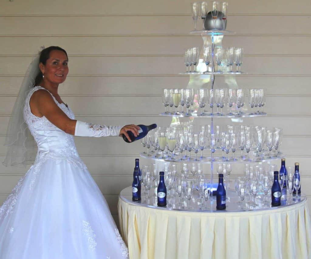Champagne toren pmma
