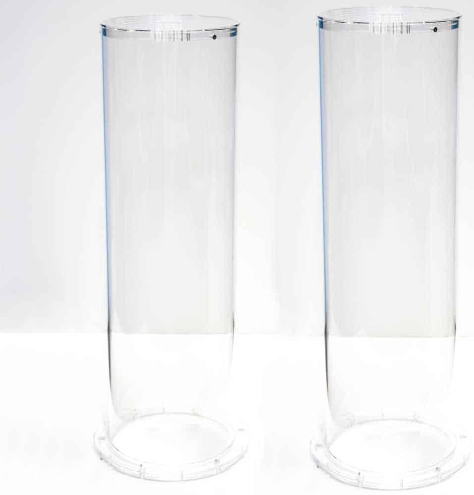Transparante buis met deksel