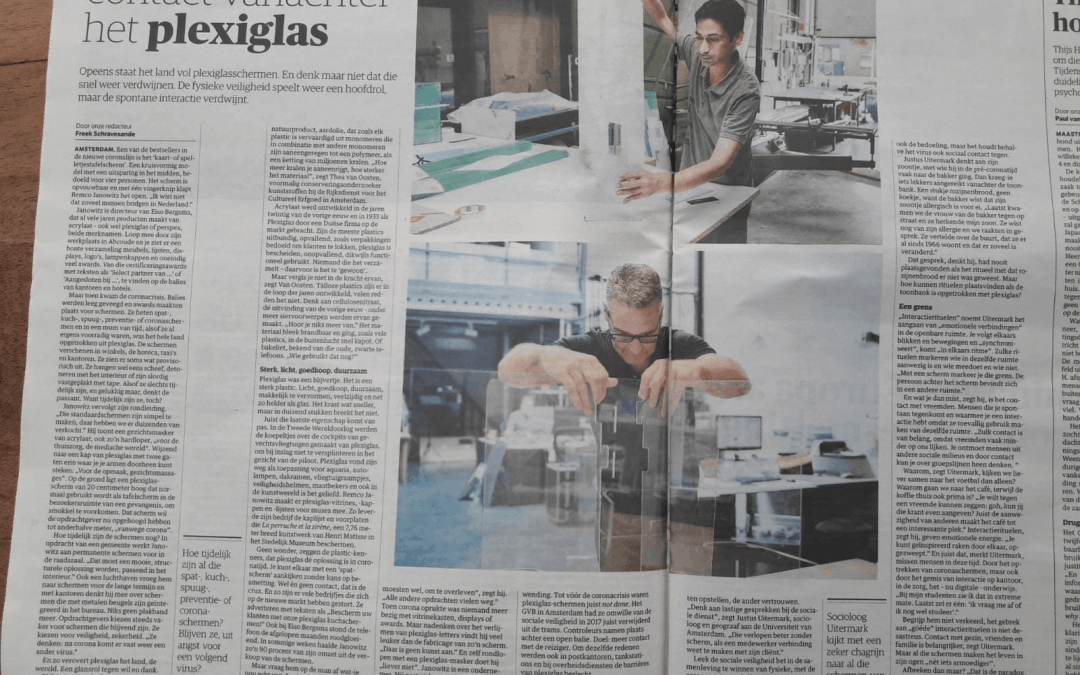 Hoe het plexiglasscherm Nederland verovert